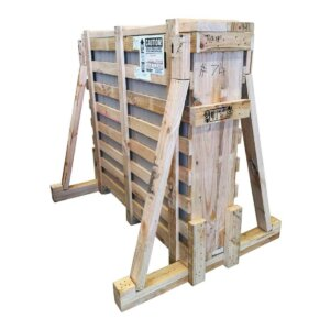 wooden crate glass