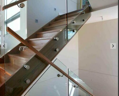 glass balustrade for stair